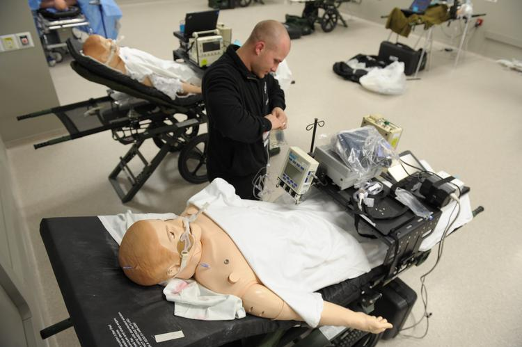 The simulators can mimic the way a critically injured person breathes, blinks and has a seizure.