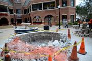 Renovations to the Church Street courtyard are underway as the future site of Cafe Red awaits opening day.