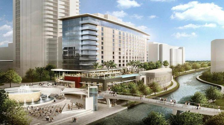 The Woodlands' new luxury hotel will overlook the waterway and include 303 rooms.