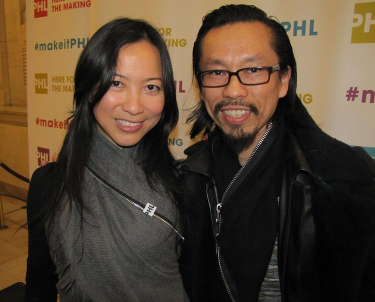 "Lele Tran, owner of the Lele Tran Collection in Old City, with her husband Peter Nguyen at the launch of Philadelphia's ""PHL: Here for the Making"" campaign."