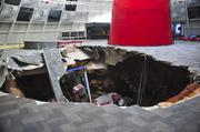 The sinkhole that formed inside the National Corvette Museum in Bowling Green.