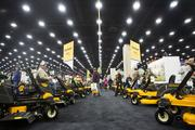 The Cub Cadet section at the show was lined with lawn and garden, and larger equipment.