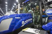 A New Holland tractor was on display at the show.