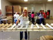 Benefactor of the year Grange Mutual Casualty Group  Grange employees in 2012 volunteered to help Furnitiure Bank of Central Ohio by building furniture for families in need.  At a glance: Volunteers: 231 Top charity: LifeCare Alliance