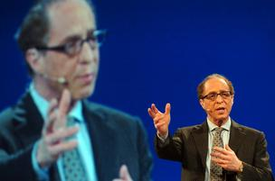 Ray Kurzweil, inventor and author, speaks at the RSA Conference in San Francisco, California, on  Wednesday, Feb. 7, 2007.