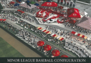 Minor-league baseball configuration rendering
