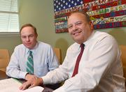 Randy Poliner and Jonathan Kislak of Antares Capital, which invests in new companies.