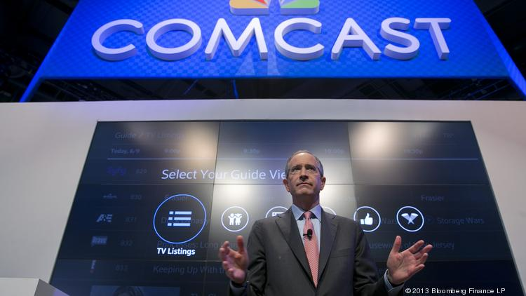Comcast Chairman and CEO Brian Roberts, seen here speaking at a trade show last June, believes New York advertisers will welcome a more sophisticated platform on cable.