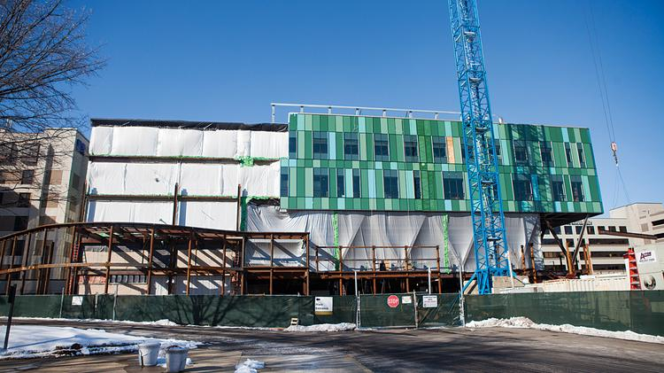 This photo from February shows the Norton Suburban Hospital addition as it was being built.