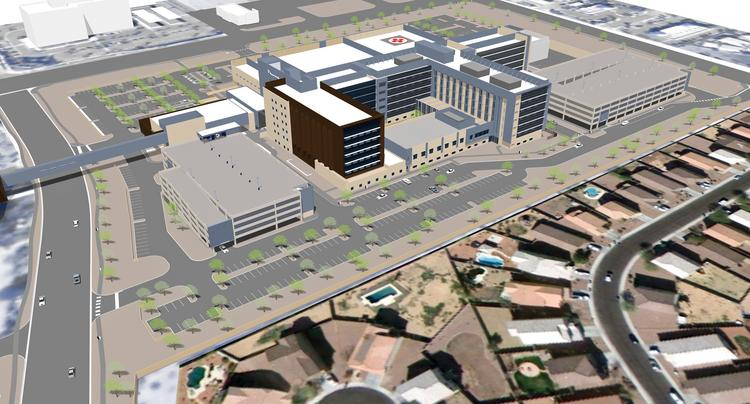 Banner Estrella Medical Center's new patient tower, shown in this rendering, will add 178 beds to the 50-acre campus for a total of 392.