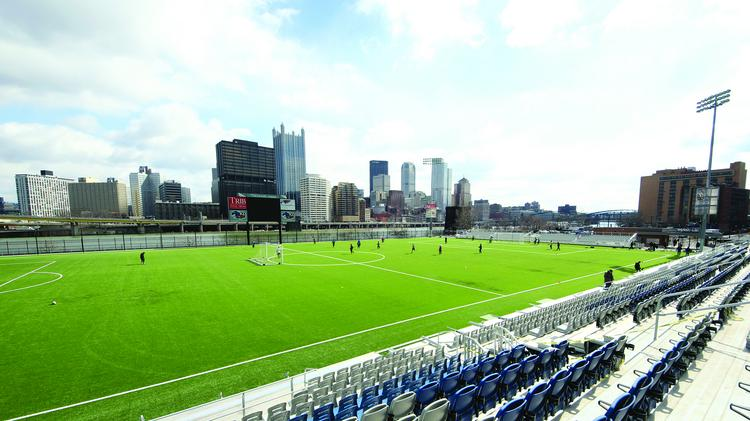 Highmark Stadium at Station Square on the South Side.