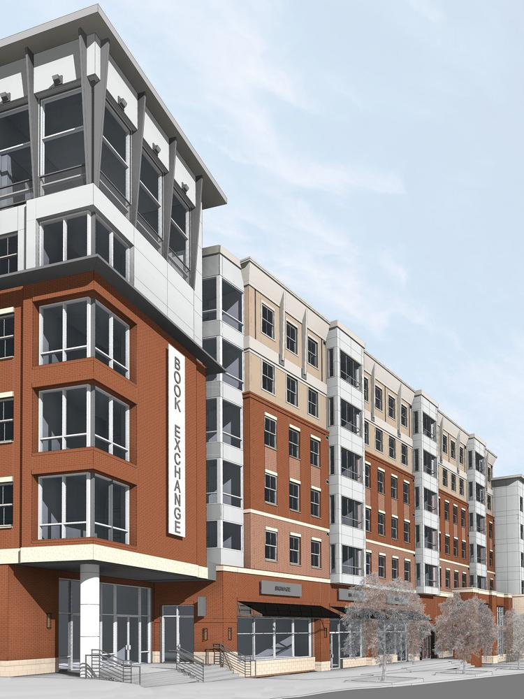 CA Student Living is building nearly 300 residential units at up to 14,000 square feet of retail space on the former Maryland Book Exchange site.