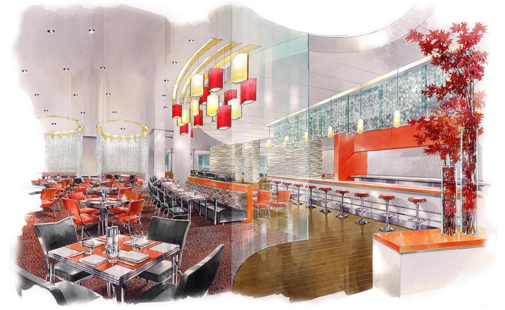 The Anthem Restaurant At Marriott Marquis Washington D C Hotel S Main Lunch And Breakfast
