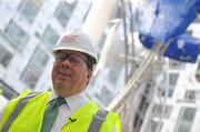 General Manager Dan Nadeau at the hotel in September. The convention center hotel is expected to open May 1.