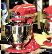 DBJ photo by James E. Mahan Mixers run along the assembly line at the KitchenAid factory in Greenville, Ohio.