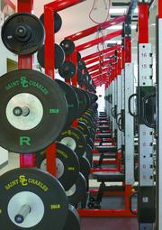 Weight room at St. Charles.