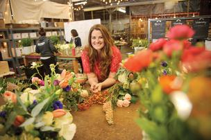 Flower power: Christina Stembel creates sustainable, domestically grown arrangements with minimal waste.