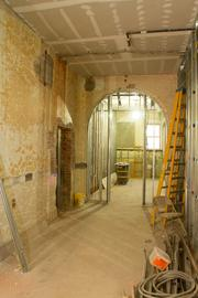 Many of the original arched doorways were kept during the renovation of the old Ohio School for the Deaf building.