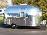 A 1961 Airstream Bambi that is currently on display at the Museum of Modern Art.