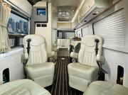 The interior of an Airstream Interstate, which includes a Mercedes-Benz Turbo diesel engine. One of Airstream's newer models.