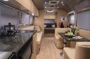Interior of the Airstream Flying Cloud. One of Airstream's newer models.