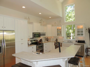 2306 Alpine Lake Drive: The kitchen opens to a vaulted great room and dining area.