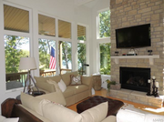 2306 Alpine Lake Drive: A floor-to-ceiling fireplace is shown.