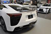 The rear spoiler of the Lexus LFA can be controlled manually, or will also rise automatically when the car reacher 50 mph.