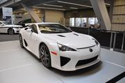 """The Lexus LFA is known as their """"supercar."""" The car, which retails for $375,000 is all hand-built. About 150 were produced for the U.S. and have already sold out. The Lexus LFA features a new V10 engine and a carbon fiber-reinforced polymer body."""