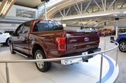 Ford kept the size of the box the same for the truck, but added a number of features to appeal to truck owners, including box links that allow for easy installation of after-market parts like toolboxes.