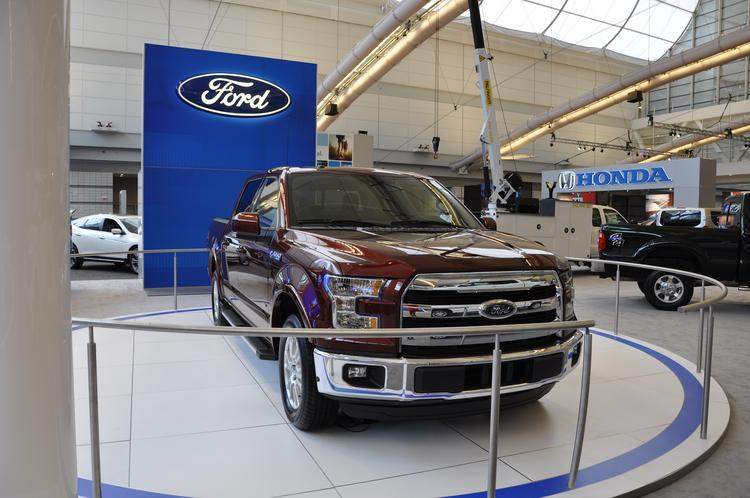 the new 2015 ford f 150 features a high strength steel frame and high