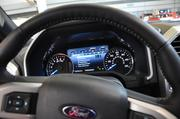 The interior of the 2015 F-150 has an eight-inch productivity screen that drivers can customize to display the information they need to see readily available. It also has new towing features and a hitch assist.