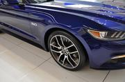For the first time, the 2015 Ford Mustang can support 20-inch wheels. The car also has a 2.3L Eco-boost engine and more than 350 horsepower, providing better fuel economy.