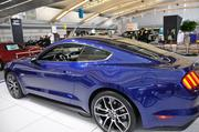 The 2015 Ford Mustang is significantly lower than the current models, with a profile reminiscent of the late '60s version of the car. It has an all-new rear suspension. The new design offers better handling, said Schaller.