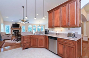 18433 Mooreland Court: The kitchen features a walk-in pantry.