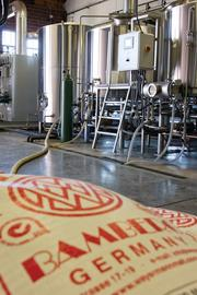 Main brewing Floor at Triple C Brewery in Southend.
