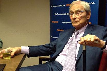 Tom Perkins, who made millions as a venture capitalist, criticized those he sees as waging war on the nation's wealthiest. He met with media from around the globe Thursday night in San Francisco, after speaking at the Commonwealth Club of California.