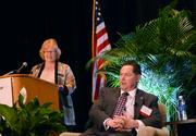 Orlando Business Journal Editor Cindy Barth gives the first question to Phil Brown.