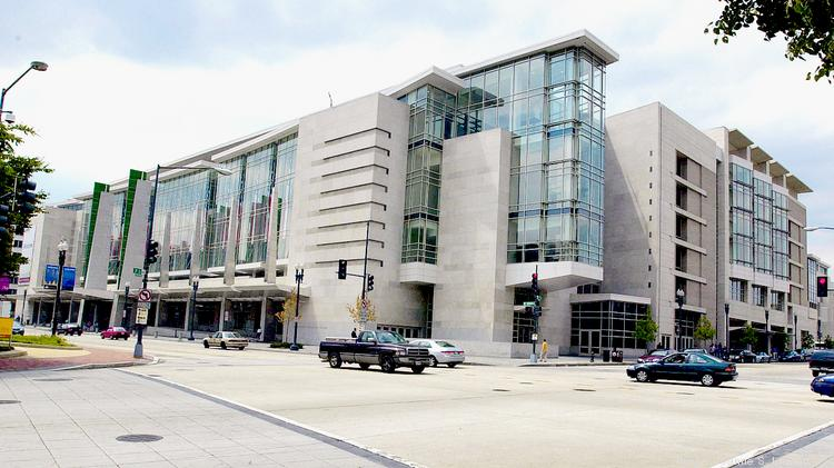 The Walter E. Washington Convention Center, which city officials hope will host many more citywide conventions once the designated convention center hotel opens May 1.