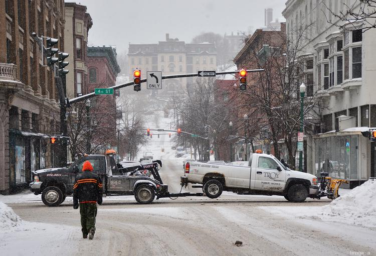A nor'easter covered the region with an average of 14.4 inches of snow. Some areas south of Albany were hit much harder with accumulations of more than two feet.