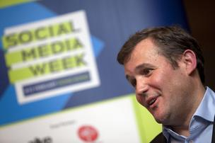 Social Media Week in NYC this year included keynote speeches from top executives at Buzzfeed, Buzzcar and Upworthy. In the past, its sister events across the world have hosted speakers such as Blake Chandlee, vice president of Emerging Markets at Facebook Inc., seen here speaking at Hong Kong's week in 2011.
