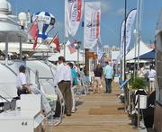 Attendees browse at the 2014 Miami International Boat Show.
