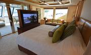 The owner's stateroom on the Arianna, a 164-foot Delta yacht.