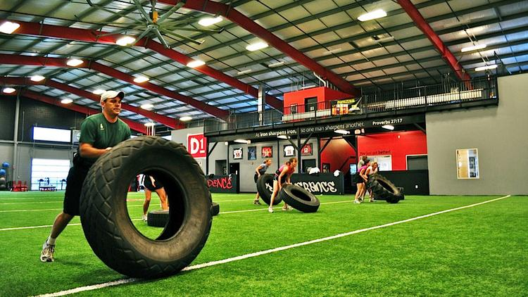 Weights, agility, speed and conditioning are part of the program at D1 Sports Training.