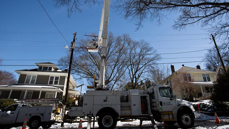 Duke Energy plans to restore power by midnight Tuesday to 98 percent of all customers affected by the ice storm.