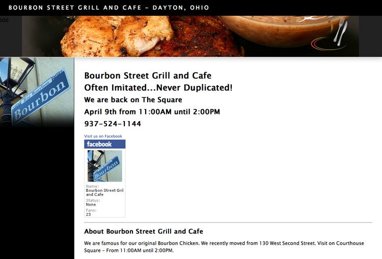Bourbon Street Grill & Cafe plans to open a location on Brown Street in a few weeks.
