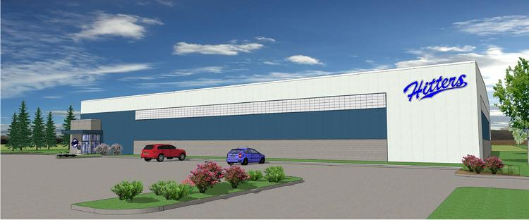 A rendering of the Hitters facility under construction at the Raymond Business Park.