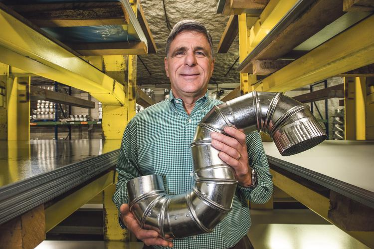 Ernie Ketcham is owner of Galvmet Steel & HVAC Supply, which supplies companies with galvanized metal ductwork and parts.