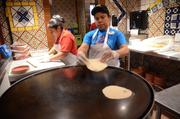 The tortillas are fresh and here's the proof.