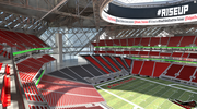 View from north upper seating bowl.